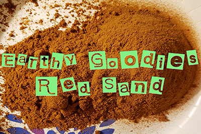 Earthy Goodies Red Edible Sand.