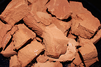 Brown edible clay chunks from AZ. Earthy Goodies mined and delicious.